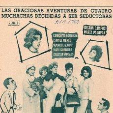 Cine: ESCUELA DE SEDUCTORAS. ISMAEL MERLO. GRACITA MORALES. LEON KLIMOVSKY. 1962. PUBLICIDAD EN PRENSA.. Lote 26629722