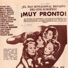 Cinema: EL CRIMEN SE PAGA. RICHARD TODD. ANNIE GIRARDOT. GERARD OURY. 1963. PUBLICIDAD EN PRENSA.. Lote 27292241