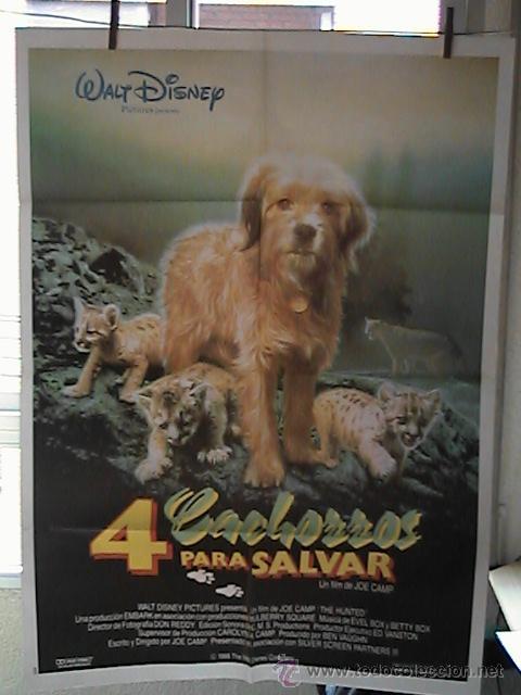 4 CACHORROS PARA SALVAR,DISNEY CARTEL DE CINE ORIGINAL 70X100 APROX (37) (Cine - Posters y Carteles - Infantil)