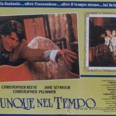 Cine: MX79 EN ALGUN LUGAR DEL TIEMPO JANE SEYMOUR CHRISTOPHER REEVE SET 6 POSTERS ORIGINAL ITALIANO 47X68. Lote 21689085