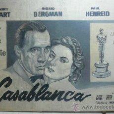 Cine: CASABLANCA. CARTEL ORIGINAL ESTRENO DE LA PELICULA. MEDIDAS 1.75 X 2.90 METROS. PROCEDENTE DE CUBA.. Lote 71038226
