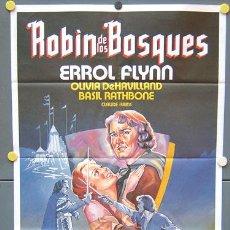 Cine: MX66 ROBIN DE LOS BOSQUES ERROL FLYNN POSTER ORIGINAL 70X100 ESPAÑOL. Lote 21793767