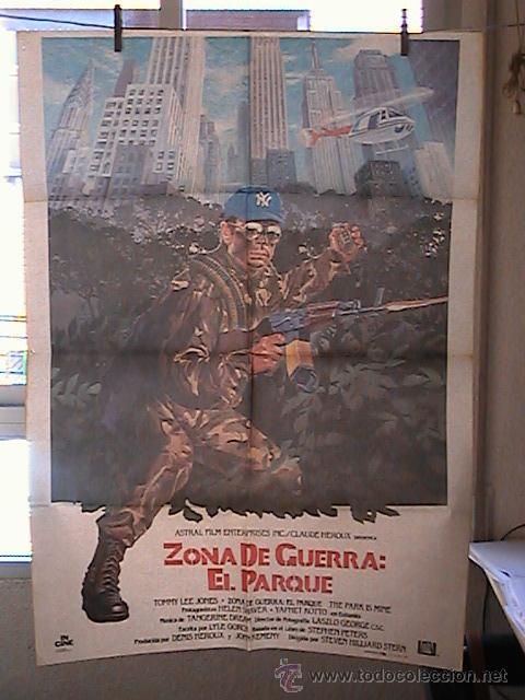 ZONA DE GUERRA: EL PARQUE,TOMMY LEE JONES CARTEL DE CINE ORIGINAL 70X100 APROX (45) (Cine - Posters y Carteles - Bélicas)