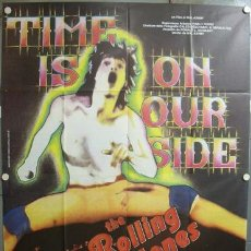 Cine: YE75D TIME IS ON OUR SIDE ROLLING STONES POSTER ORIGINAL 140X200 ITALIANO. Lote 21839582