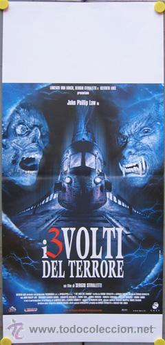 RE45D I TRE VOLTI DEL TERRORE STIVALETTI BAVA POSTER ORIGINAL 33X70 ITALIANO (Cine - Posters y Carteles - Terror)
