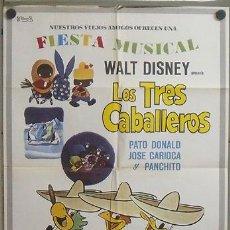 Cinema: MZ03 LOS TRES CABALLEROS WALT DISNEY POSTER ORIGINAL 70X100 ESPAÑOL. Lote 21936935