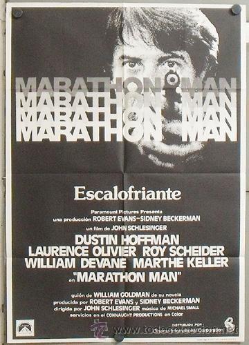 MZ34 MARATHON MAN DUSTIN HOFFMAN LAURENCE OLIVIER POSTER ORIGINAL 70X100 ESTRENO (Cine - Posters y Carteles - Suspense)
