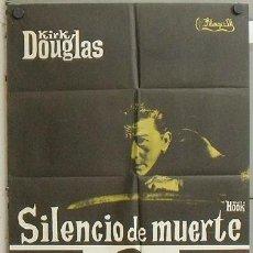 Cine: MZ53 SILENCIO DE MUERTE KIRK DOUGLAS POSTER ORIGINAL 70X100 ESTRENO. Lote 21957977