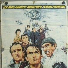 Cine: MZ61 LOS CAÑONES DE NAVARONE GREGORY PECK POSTER ORIGINAL 70X100 ESTRENO. Lote 21960566