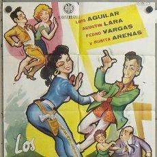 Cine: MZ93 LOS CHIFLADOS DEL ROCK AND ROLL LUIS AGUILAR PEDRO VARGAS POSTER ORIGINAL 70X100 ESTRENO. Lote 21964158