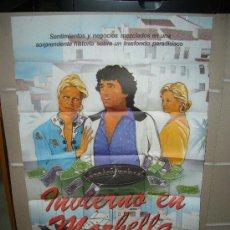 Cine: INVIERNO EN MARBELLA FERNANDO SANCHO MARIA SALERNO POSTER ORIGINAL 70X100 . Lote 21965996