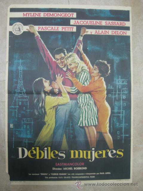 DEBILES MUJERES, MYLENE DEMONGEOT, ALAIN DELON - AÑO 1962 (Cine - Posters y Carteles)