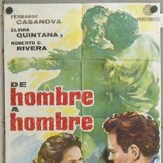 NA09 DE HOMBRE A HOMBRE FERNANDO CASANOVA ELVIRA QUINTANA POSTER ORIGINAL 70X100 ESTRENO
