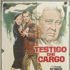 Cine: XK01D TESTIGO DE CARGO TYRONE POWER MARLENE DIETRICH AGATHA CHRISTIE POSTER ORIGINAL 70X100. Lote 22097385