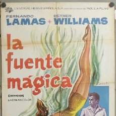 Cine: NA38 LA FUENTE MAGICA ESTHER WILLIAMS FERNANDO LAMAS POSTER ORIGINAL ESTRENO 70X100. Lote 22098135