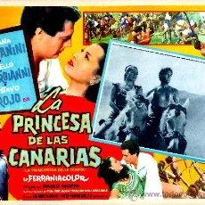 Cine: TIRMA LA PRINCESA DE CANARIAS 1956 (ESPECTACULAR LOBBY CARD ORIGINAL) SILVANA PAMPANINI. Lote 26012721