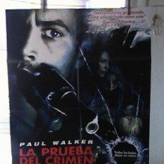 Cine: LA PRUEBA DEL CRIMEN, CARTEL DE CINE ORIGINAL 70X100 APROX (48). Lote 22060040