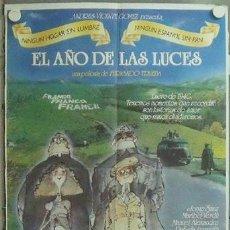 Cine: NA77 EL AÑO DE LAS LUCES FERNANDO TRUEBA JORGE SANZ MARIBEL VERDU POSTER ORIGINAL 70X100 ESTRENO. Lote 22105052