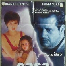 Cine: NB55 UNA CASA EN LAS AFUERAS JUAN ECHANOVE EMMA SUAREZ POSTER ORIGINAL 70X100 ESTRENO. Lote 86945410