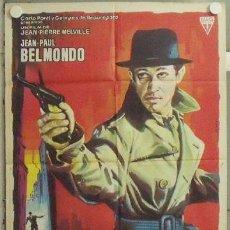 Cine: NA82 EL CONFIDENTE JEAN-PAUL BELMONDO MELVILLE ALBERICIO POSTER ORIGINAL 70X100 ESTRENO. Lote 22124336