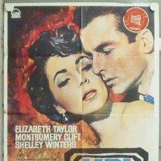 Cine: YU50D UN LUGAR EN EL SOL ELIZABETH TAYLOR MONTGOMERY CLIFT POSTER MAC ORIGINAL 70X100 ESPAÑOL. Lote 22125218