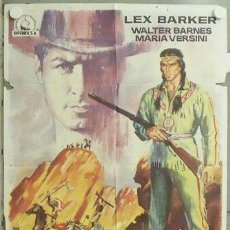 Cine: NB11 FURIA APACHE WINNETOU LEX BARKER KARL MAY PIERRE BRICE POSTER ORIGINAL 70X100 ESPAÑOL. Lote 22125338