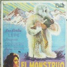 Cine: NB14 EL MONSTRUO DE LOS VOLCANES JOAQUIN CORDERO ANA BERTHA LEPE ADOS POSTER ORIGINAL 70X100 ESTRENO. Lote 22135890