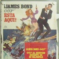Cine: NB16 007 AL SERVICIO SECRETO DE SU MAJESTAD JAMES BOND LAZENBY POSTER ORIGINAL ESTRENO 70X100. Lote 22136019
