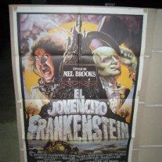 Cine: EL JOVENCITO FRANKENSTEIN MEL BROOKS GENE WILDER MARTY FELDMAN POSTER ORIGINAL 70X100. Lote 27466788