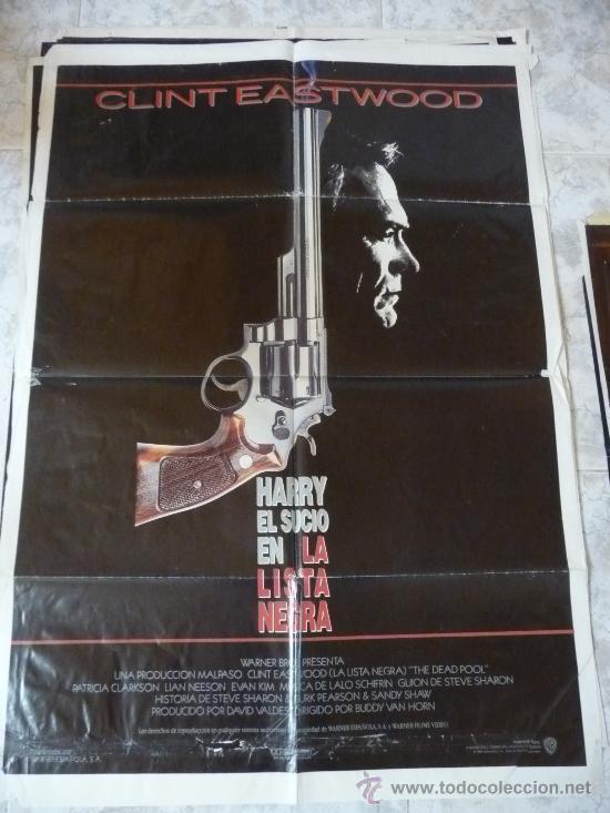 HARRY EL SUCIO EN LA LISTA NEGRA - CLINT EASTWOOD (Cine - Posters y Carteles - Acción)
