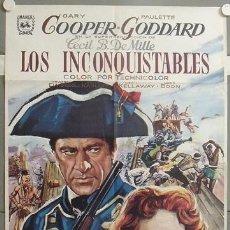 Kino - KMP 067 LOS INCONQUISTABLES GARY COOPER DEMILLE PAULETTE GODDARD POSTER ORIGINAL 70X100 ESPAÑOL - 22387502