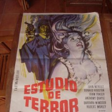 Cine: ESTUDIO DE TERROR 1966 JAMES HILL JOHN NEVILLE DONALD HOUSTON POSTER ORIGINAL 70 X 100. Lote 92733465