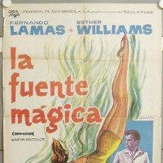 Cine: KMP 087 LA FUENTE MAGICA ESTHER WILLIAMS FERNANDO LAMAS POSTER ORIGINAL ESTRENO 70X100. Lote 22399738
