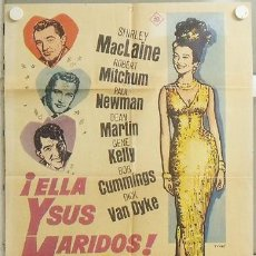 Cine: KMP 133 ELLA Y SUS MARIDOS SHIRLEY MACLAINE PAUL NEWMAN MAC POSTER ORIGINAL 70X100 ESTRENO. Lote 22505585