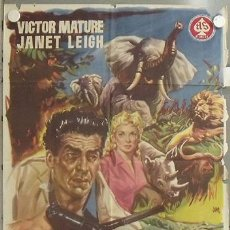 Cine: KMP 162D SAFARI VICTOR MATURE JANET LEIGH POSTER ORIGINAL 70X100 ESTRENO. Lote 22509380