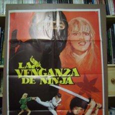 Cine: LA VENGANZA DE NINJAS, POSTER. 1983. Lote 27721769