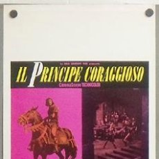 Cine: KMP 164 EL PRINCIPE VALIENTE ROBERT WAGNER JANET LEIGH POSTER ORIGINAL 33X70 ITALIANO . Lote 22512018
