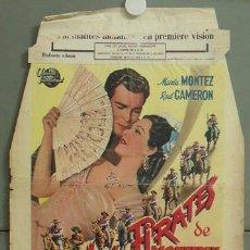 Cine: KMP 843D PIRATAS DE MONTERREY MARIA MONTEZ POSTER ORIGINAL BELGA 42X62. Lote 22569865