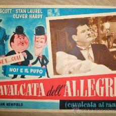 Cine: CARTEL, CINE, STAN LAUREL, OLIVER HARDY, CAVALCATA DELL'ALLEGRIA, CABALGATA DE LA ALEGRIA, CAPITOL. Lote 22635690