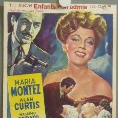 Cine: KMP 842D MARIA MONTEZ MASSIMO SERATO CAMORRA / SCHATTEN ÜBER NEAPEL POSTER ORIGINAL BELGA 36X49. Lote 22638171