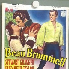 Cine: KMP 836D BEAU BRUMMELL ELIZABETH TAYLOR STEWART GRANGER POSTER ORIGINAL BELGA 37X49. Lote 22642006