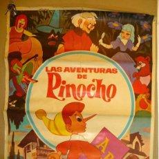 Cine: ANTIGUO CARTEL, PELICULA, LAS AVENTURAS DE PINOCHO, ARCE FILMS, 1972, EDIS TELECINE, MEDIDAS: 100X70. Lote 22642276