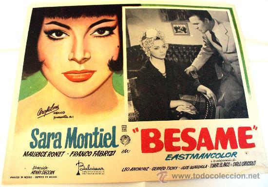 NOCHES DE CASABLANCA (BESAME) 1963 SARA MONTIEL (LOBBY CARD ORIGINAL) (Cine - Posters y Carteles - Clasico Español)