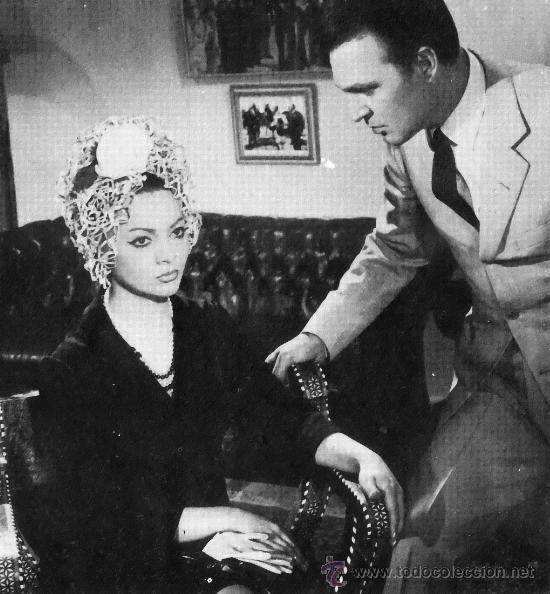 Cine: NOCHES DE CASABLANCA (BESAME) 1963 SARA MONTIEL (LOBBY CARD ORIGINAL) - Foto 3 - 26148143