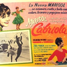 Cine: CABRIOLA MARISOL ANGEL PERALTA 1965 (LOBBY CARD ORIGINAL). Lote 26148132