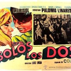 Cine: SOLOS LOS DOS MARISOL SEBASTIAN PALOMO LINARES (LOBBY CARD ORIGINAL). Lote 26148121
