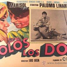 Cine: SOLOS LOS DOS 1698 MARISOL SEBASTIAN PALOMO LINARES (LOBBY CARD ORIGINAL). Lote 24864095