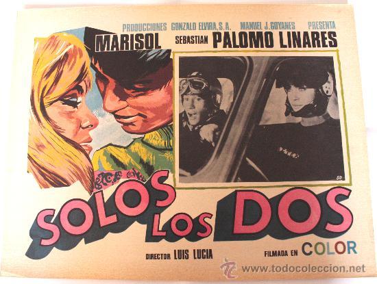 SOLOS LOS DOS 1968 MARISOL SEBASTIAN PALOMO LINARES (LOBBY CARD ORIGINAL) (Cine - Posters y Carteles - Musicales)