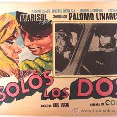 Cine: SOLOS LOS DOS 1968 MARISOL SEBASTIAN PALOMO LINARES (LOBBY CARD ORIGINAL). Lote 24864125