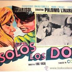 Cine: SOLOS LOS DOS 1968 MARISOL SEBASTIAN PALOMO LINARES (LOBBY CARD ORIGINAL). Lote 25043004